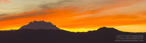 Mt Kinabalu stunning sunset shot