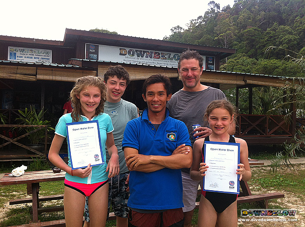 Young Divers in Borneo