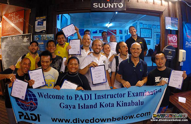 living the diving dream, go pro internship program, go pro, padi idc, padi instructor development course, padi ie, instructor examination, kota kinabalu, sabah, borneo, open water scuba instructor, owsi, 5 star idc dive centre