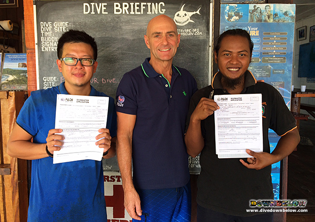 divemaster, padi divemaster, work4acareer, local community, go pro internship program, resident platinum padi course director, gaya island, 5 star idc dive centre, instructor development course, padi idc, continuing education,