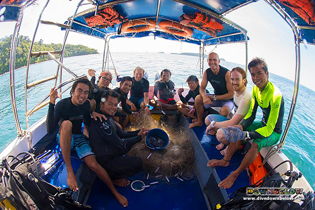 downbelow marine and wildlife adventures, sabah, kota kinabalu, borneo, tar marine park, tunku abdul rahman park, project aware, conservation, pro diver, go pro diver, go pro internship program, ghost nets, illegally discarded fishing nets, marine parks, protected areas