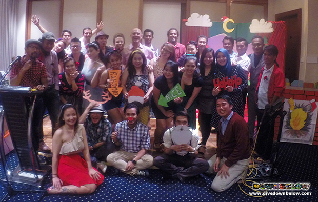 tourism industry, christmas party, 1950s theme, downbelow staff team, team building, corporate dinner, marine, wildlife, adventure, travel, tours, kota kinabalu, borneo, malaysia, holidays, festive season, christmas time, santa clasu