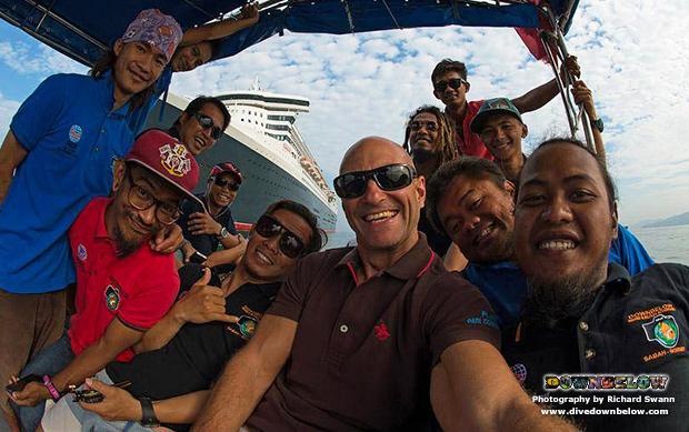 tar park, tunku abdul rahman marine park, cunard, queen mary 2, luxury cruise liner, kota kinabalu, kk, sabah, borneo, malaysia