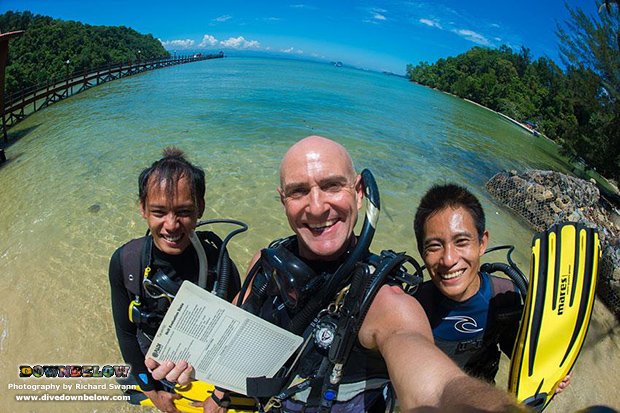 padi instructor development course, divemaster, work for a career, internship program, professional scuba diving, platinum course director, downbelow marine and wildlife adventures, sabah travel centre, go pro, sabah, kota kinabalu, tar marine park,