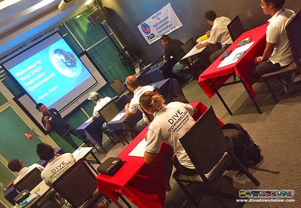 padi instructor examination, ie, downbelow marine and wildlife adventures, kota kinabalu, sabah travel centre, instructor development course, idc, pro diver, professional scuba diving training, open water scuba instructor,