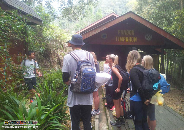 mount kinabalu, downbelow travel centre, safety briefing, laban rata plateau, timpohon gate, expedition borneo, via ferrata teaser, safety equipment briefing, group travel