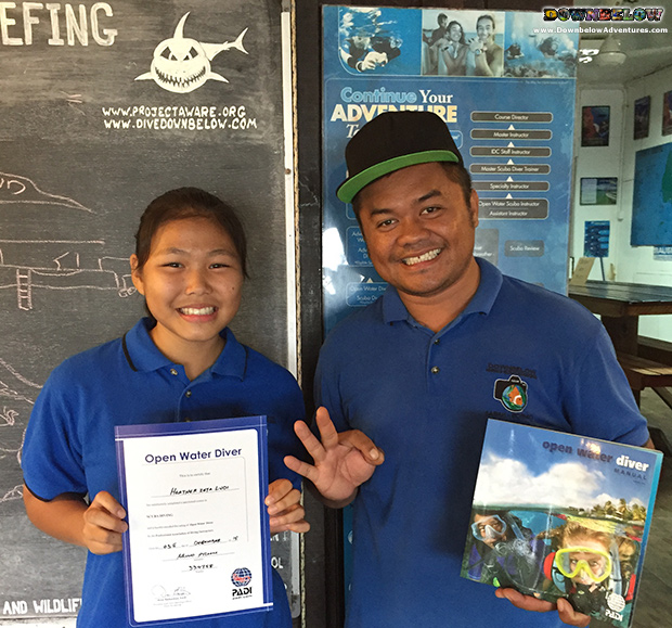 downbelow marine and wildlife adventures, padi open water diver course, work experience, scuba diving, learn to dive, sabah, kota kinabalu, borneo,