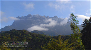 Mt. Kinabalu peaks from a sistance
