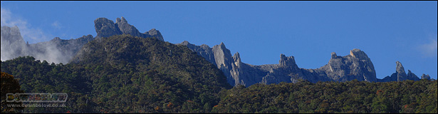 The many peaks of Mt. Kinabalu