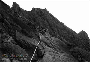 The route up to the summit of Mount Kinabalu