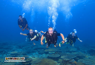 Diving the clear waters of the Tunku Abdul Rahman Park