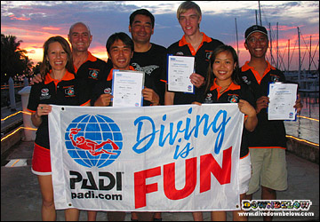 Diving is fun with Downbelow's Diving Instructor Team