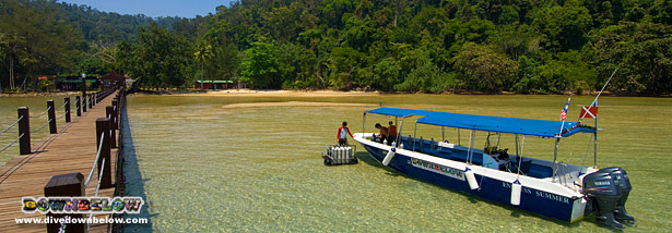 The lagoon off our PADI 5-Star IDC Dive Centre on Gaya Island, Kota Kinabalu