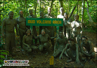 Enjoying the therapeutic mud of the Pulau Tiga - Survivor Island Mud Volcano
