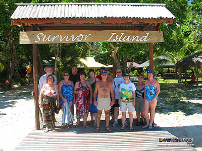 Arriving at Survivor Island / Pulau Tiga