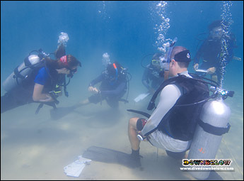 With walk-in diving you can practice to your heart's content