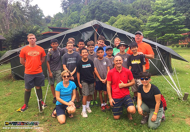 downbelow marine and wildlife adventures, premier padi 5 star idc dive centre, american boy scouts singapore troop, tunku abdul rahman marine park, downbelow adventure lodge, scuba diving, padi junior open water diver course, snorkel safari,